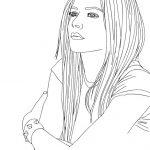 Caricaturas de Avril Lavigne para colorear