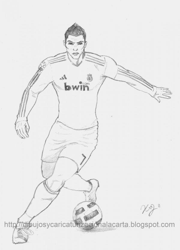 Dibujos De Jugadores De Fútbol Famosos Para Pintar Messi Cristiano