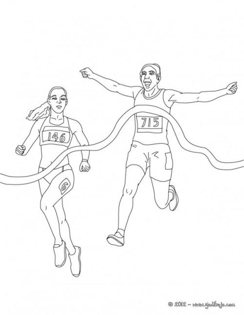 Imágenes Para Pintar De Atletismo Colorear Imágenes