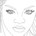 Caricaturas de Rihanna para pintar