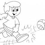 Imágenes para pintar de futbol para el Día del Futbolista el 14 de mayo