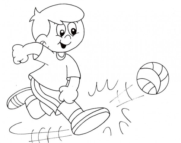 Imágenes para pintar de futbol para el Día del Futbolista el 14 de ...