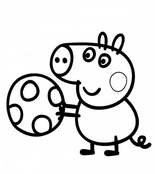 Imágenes Para Pintar De La Cerdita Peppa Pig Y Su Familia Colorear