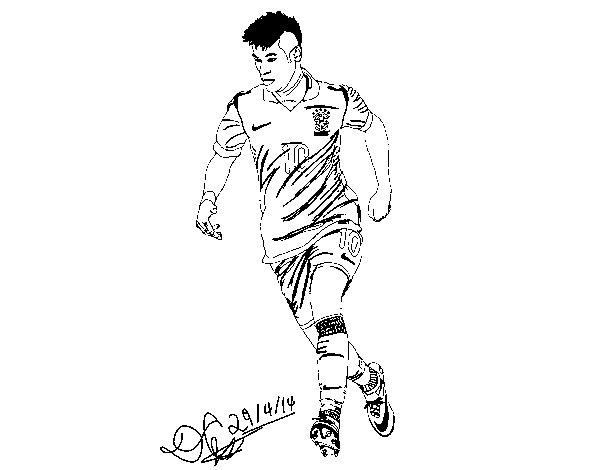 Dibujos De Futbolistas Famosos Para Colorear: Dibujos De Jugadores De Fútbol Famosos Para Pintar: Messi