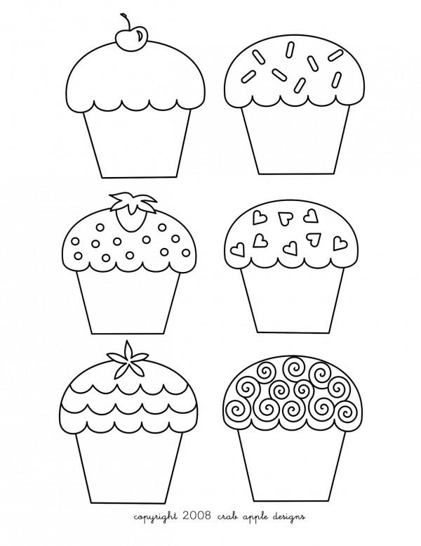 im u00e1genes para colorear de cupcakes