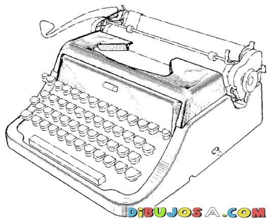Imágenes De Maquinas Para Escribir Para Colorear