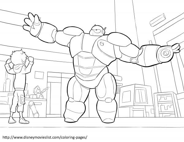 Imagenes Animadas Para Colorear: Imágenes Para Colorear De Big Hero 6