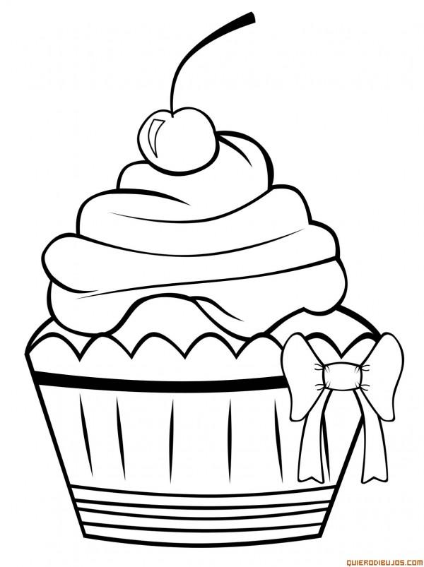 Cupcake-para-colorear