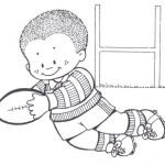 Dibujos de niños deportistas para colorear