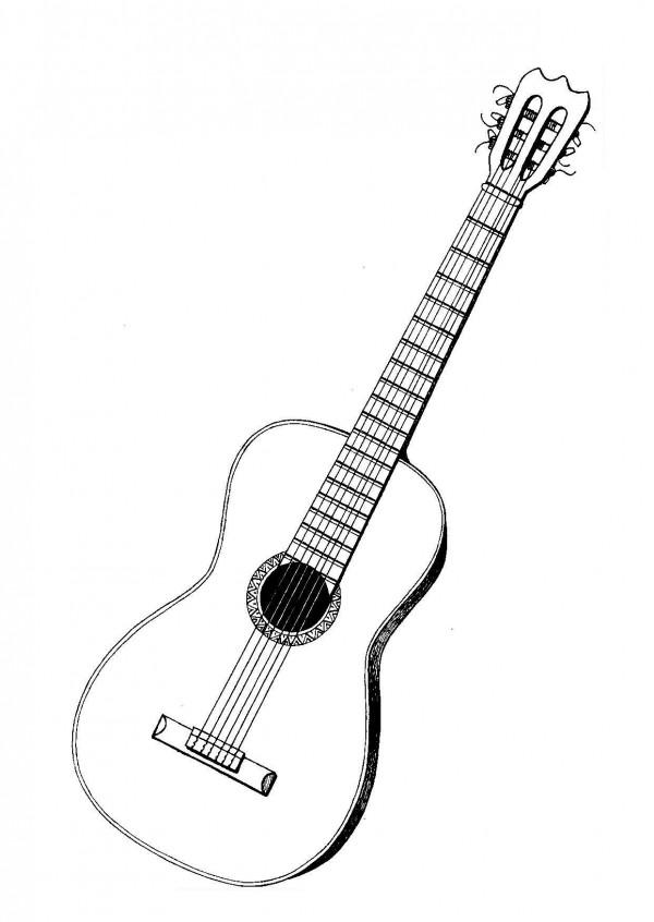 Imágenes de guitarras para colorear | Colorear imágenes
