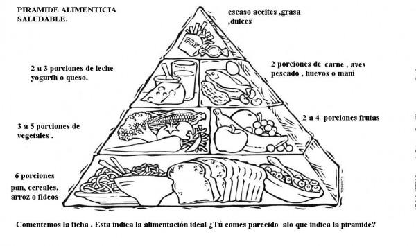 Pir mides de alimentos saludables para imprimir y colorear colorear im genes - Piramides de alimentos saludables ...