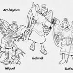 Dibujos del Día de los Arcángeles para imprimir y pintar