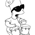 Dibujos del travieso Bart Simpson para colorear