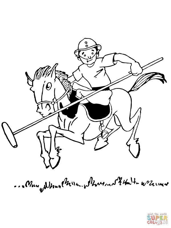 boy-plays-polo-coloring-page