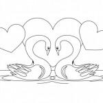 Imágenes de cisnes para colorear