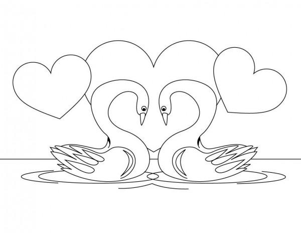 Imágenes de cisnes para colorear | Colorear imágenes