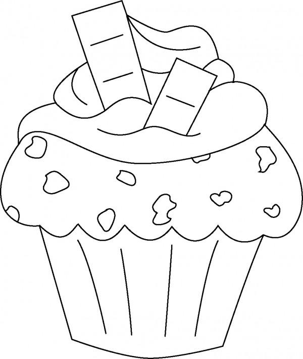 Imágenes para colorear de cupcakes | Colorear imágenes