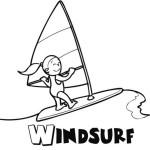 Imágenes para colorear de Windsurf