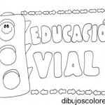 Dibujos infantiles de Eduación Vial para colorear