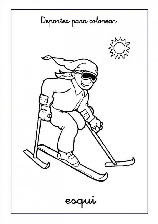 esqui-para-colorear
