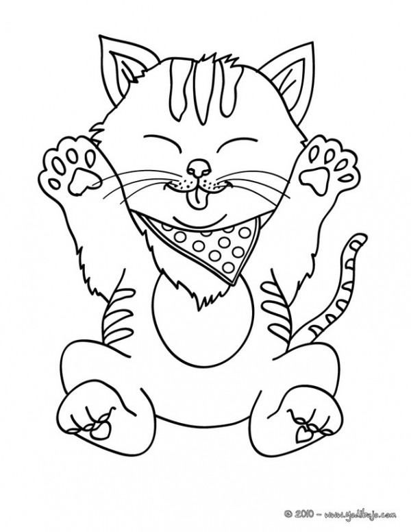 sleeping cats coloring page dibujos de gatitos simp 225 ticos para colorear colorear 5435