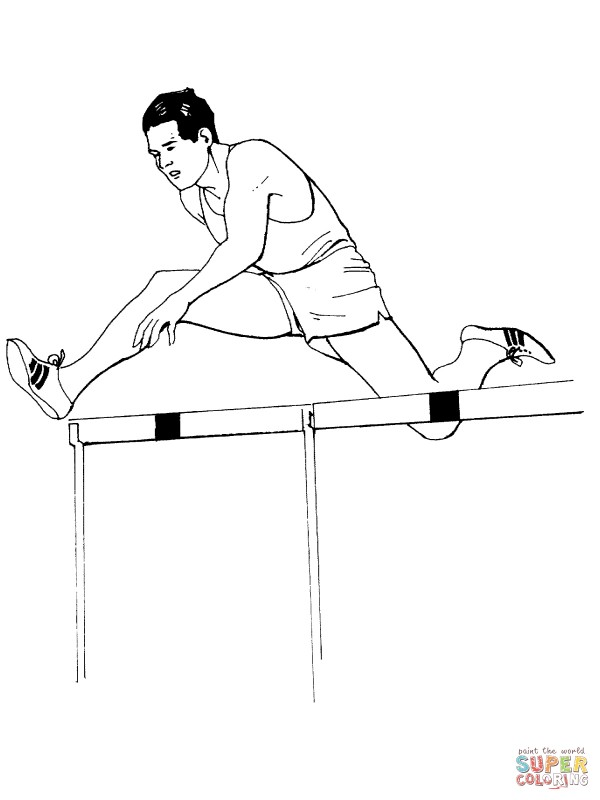 hurdling-race-coloring-page