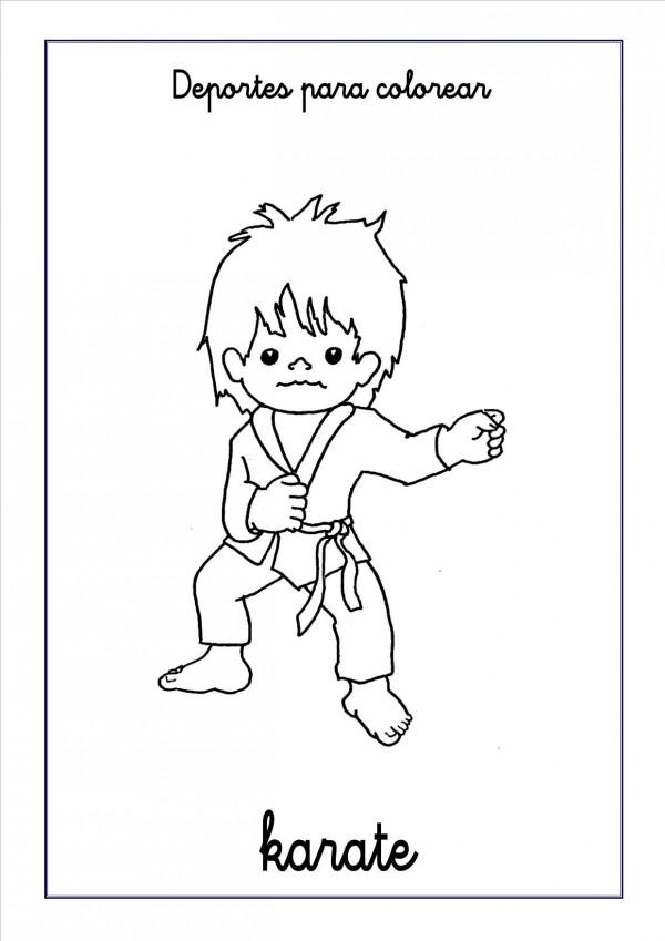 Imágenes Para Colorear De Karate Colorear Imágenes