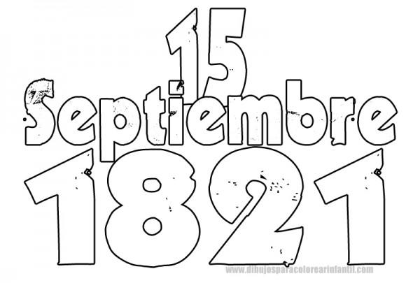 Contempor neo hojas de septiembre para colorear cresta for 16 de septiembre coloring pages