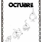 Carteles del mes de Octubre para colorear y compartir