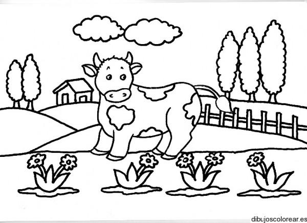 Paisajes con vacas – Dibujos para imprimir y colorear | Dibujos para ...