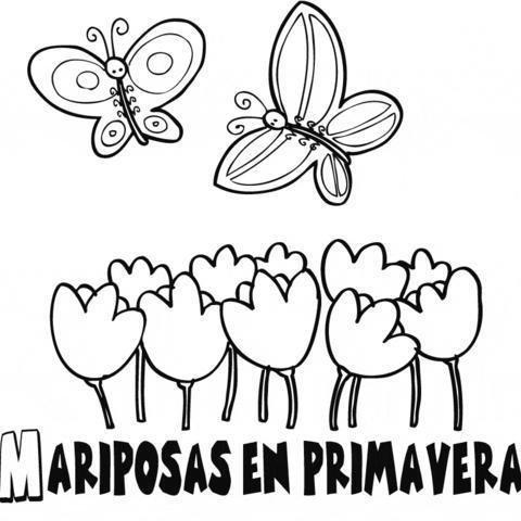 Dibujos De La Primavera ® Imágenes Infantiles Para Colorear