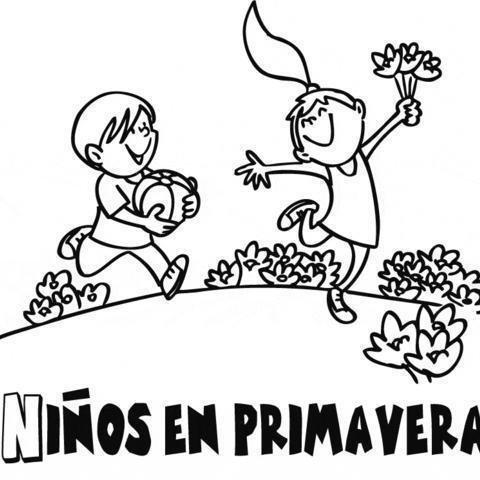 Dibujos Infantiles De Primavera Para Pintar Colorear Imágenes