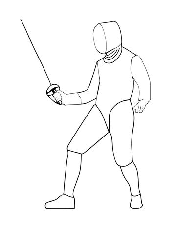 saber-fencing-coloring-page
