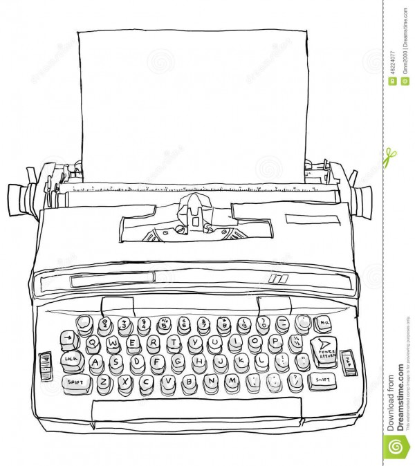 vintage-azul-de-la-máquina-de-escribir-46224077