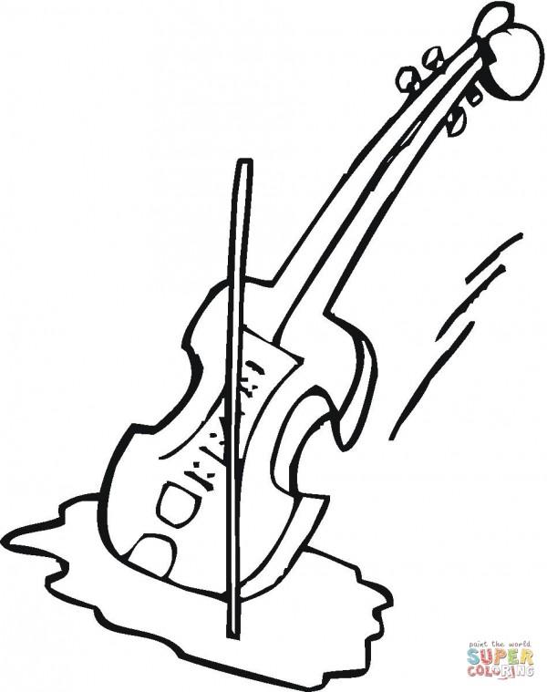 violin-coloring-page