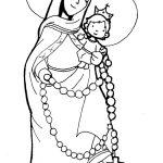 Dibujos del Día de Nuestra Señora del Rosario de San Nicolás para colorear
