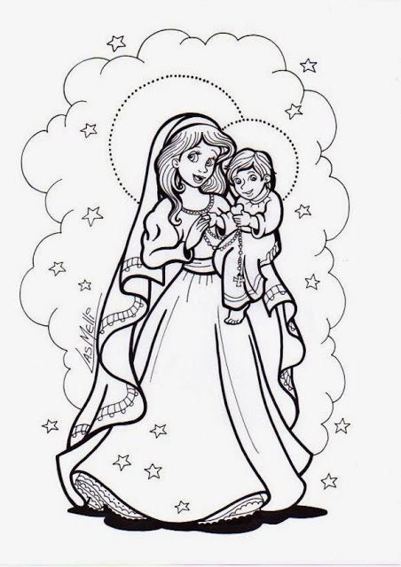 dibujos del d237a de nuestra se241ora del rosario de san