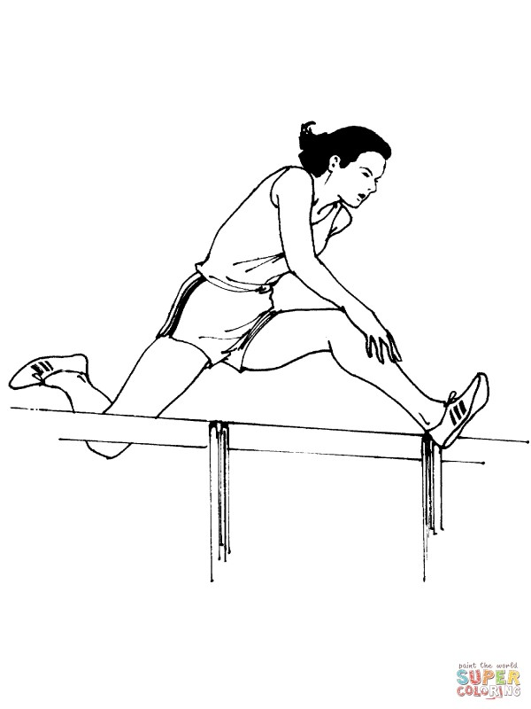 women-running-hurdles-coloring-page