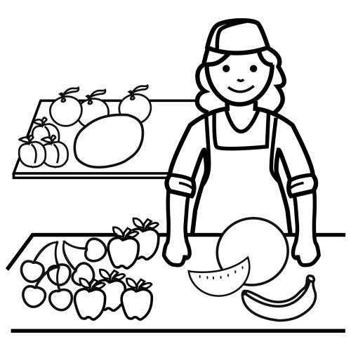 dibujos de fruter u00edas para colorear