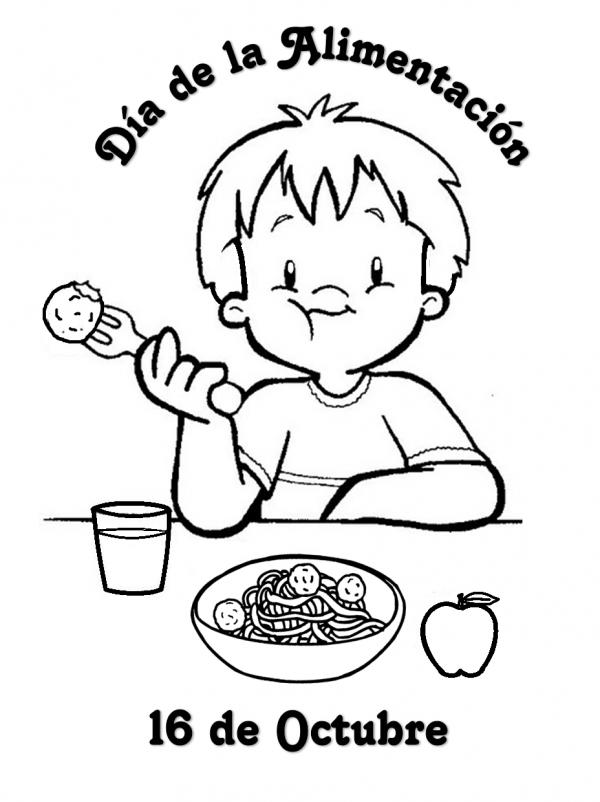 imagenes del derecho a la alimentacion para colorear