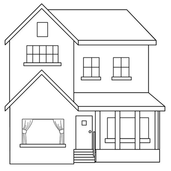 Dibujos de casas para imprimir y colorear colorear im genes - Pintar entrada piso ...