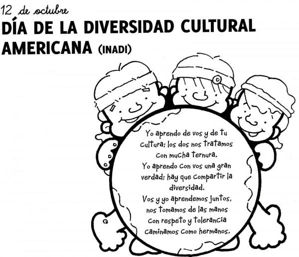 Dibujos Para Colorear Del Dia Del Respeto A La Diversidad Cultural