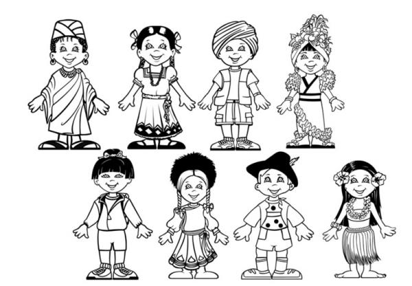 Dibujos Para Colorear Del Día Del Respeto A La Diversidad