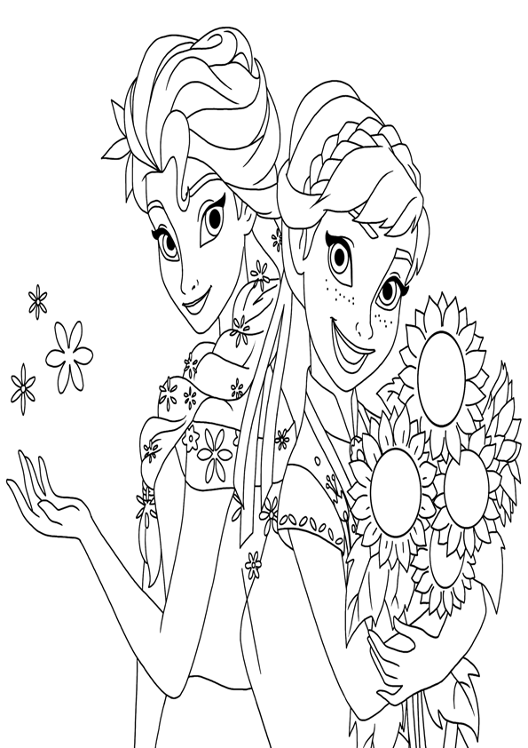 Snow Girl Coloring Pages