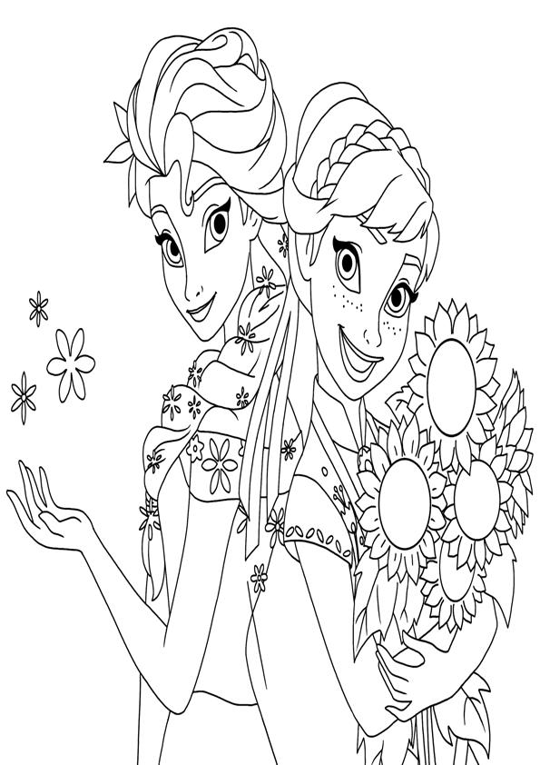Dibujos De Las Princesas Anna Y Elsa Frozen Para Imprimir Y