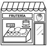 Dibujos de fruterías para colorear