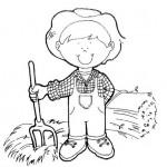 Dibujos infantiles de granjeros para colorear