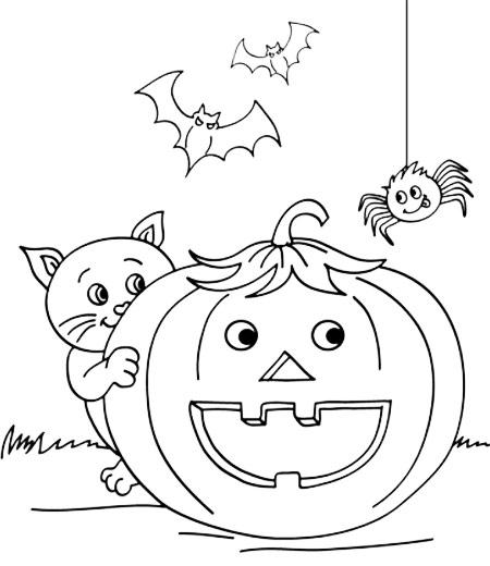 divertidos dibujos de halloween para colorear