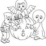 Terroríficos dibujos de Halloween para colorear