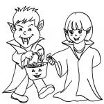 Disfraces de Halloween para colorear
